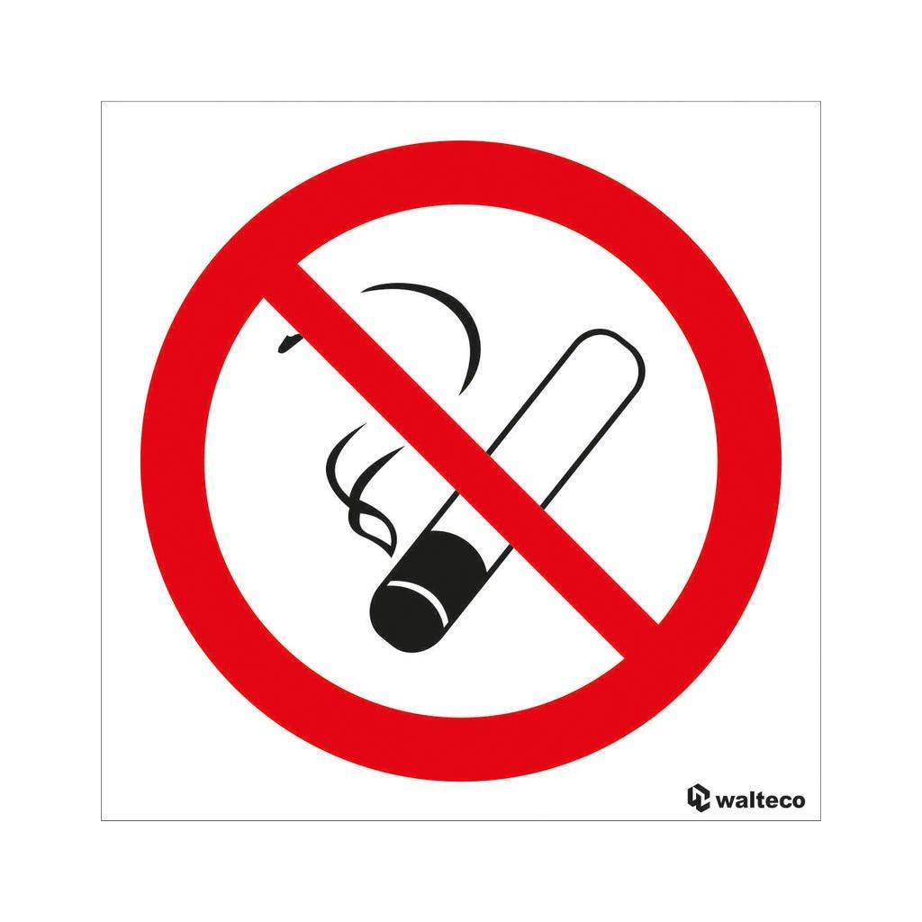 Zákaz kouření - symbol 90x90mm, samolepka