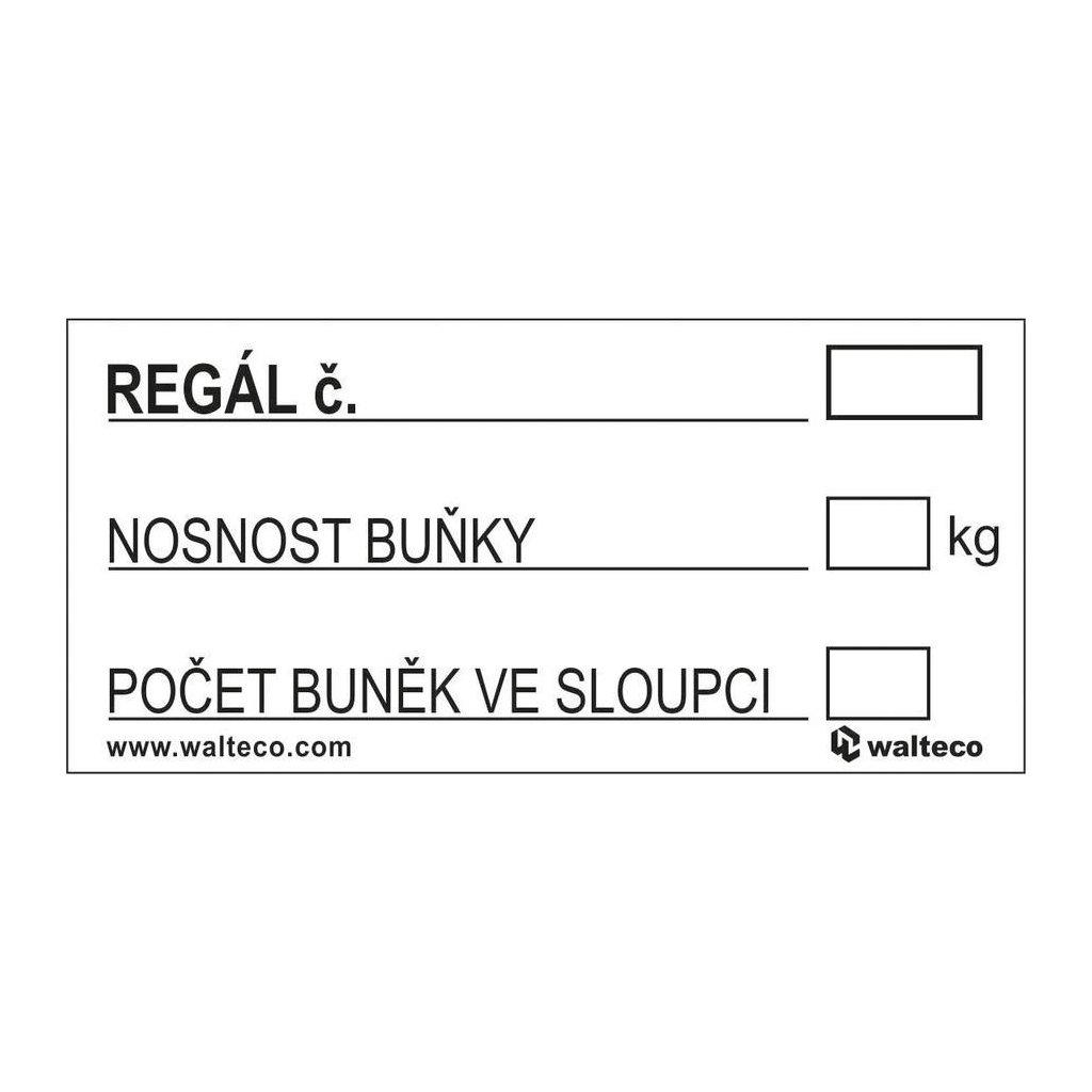 Označení regálu