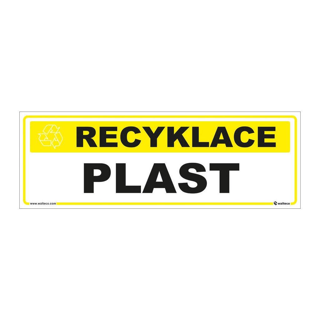 Recyklace - Plast,  290x100mm, samolepka