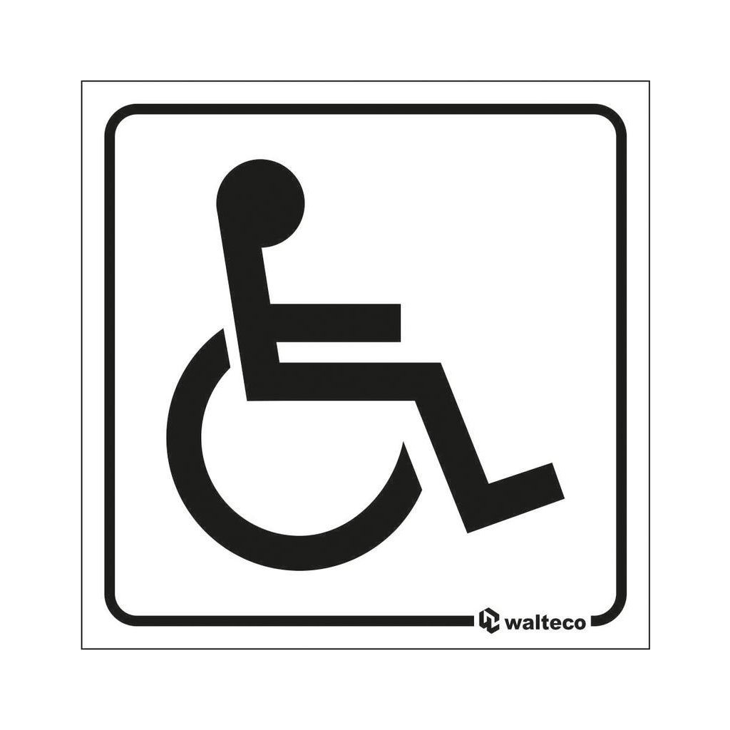 WC invalida, 80x80mm, samolepka