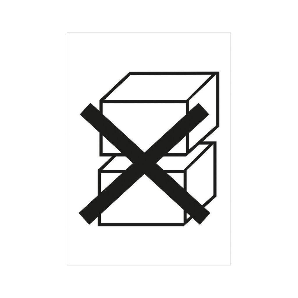 Nestohovat/Do not stack - piktogram, 70x100mm, samolepka