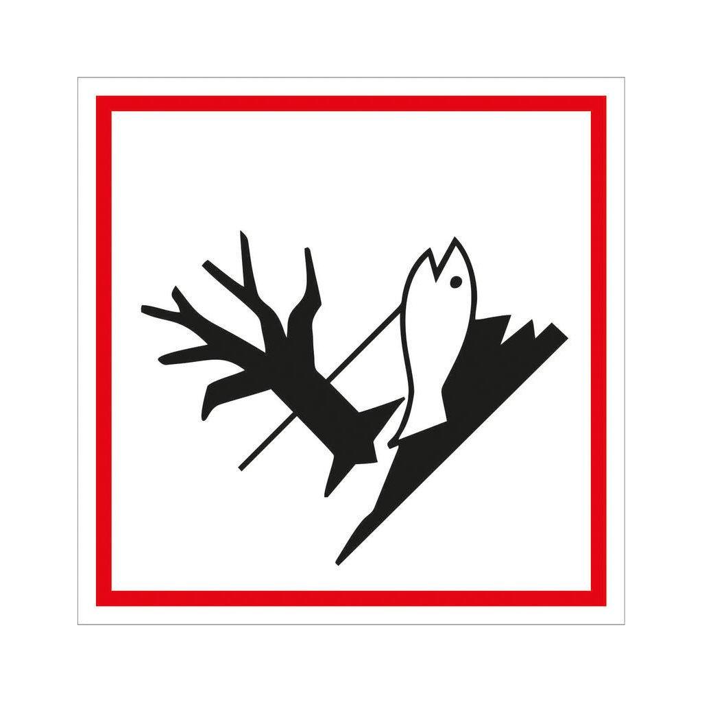 Symbol GHS 09 – NEBEZPEČÍ 100x100mm, samolepka