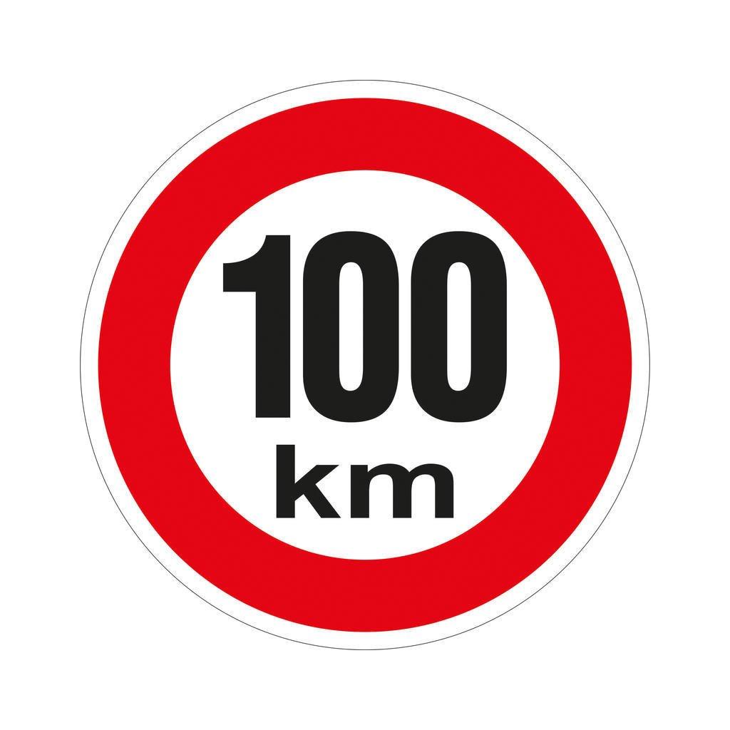 Značka rychlosti retroreflexní 100 km/h