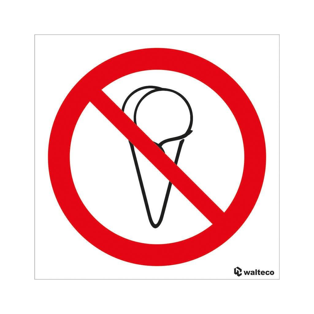 Zákaz vstupu se zmrzlinou, samolepka