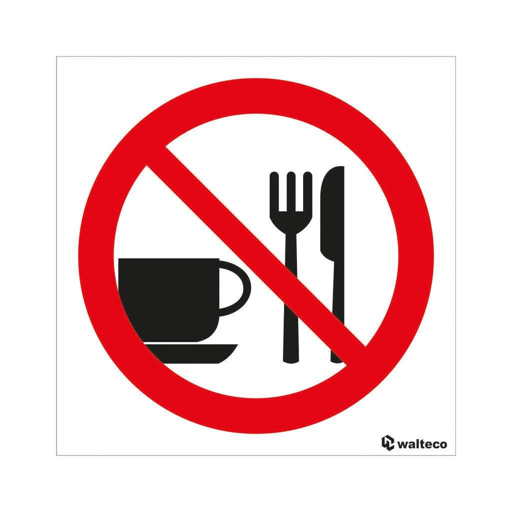 Zákaz vstupu s jídlem, samolepka