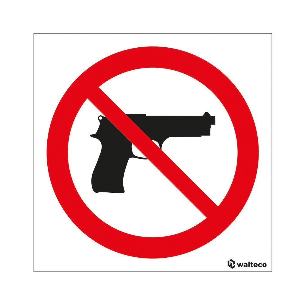 Zákaz vstupu se zbraní, samolepka