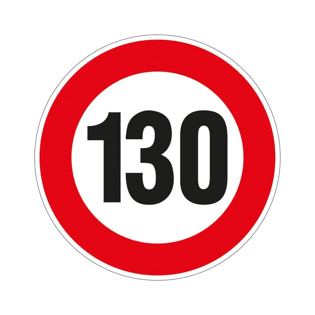 Fólie 130km omezení