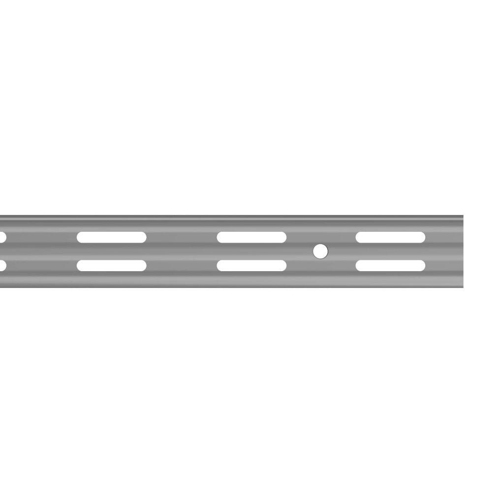 Dvouřadá lišta 25x12mm, délka 1000mm, stříbrná