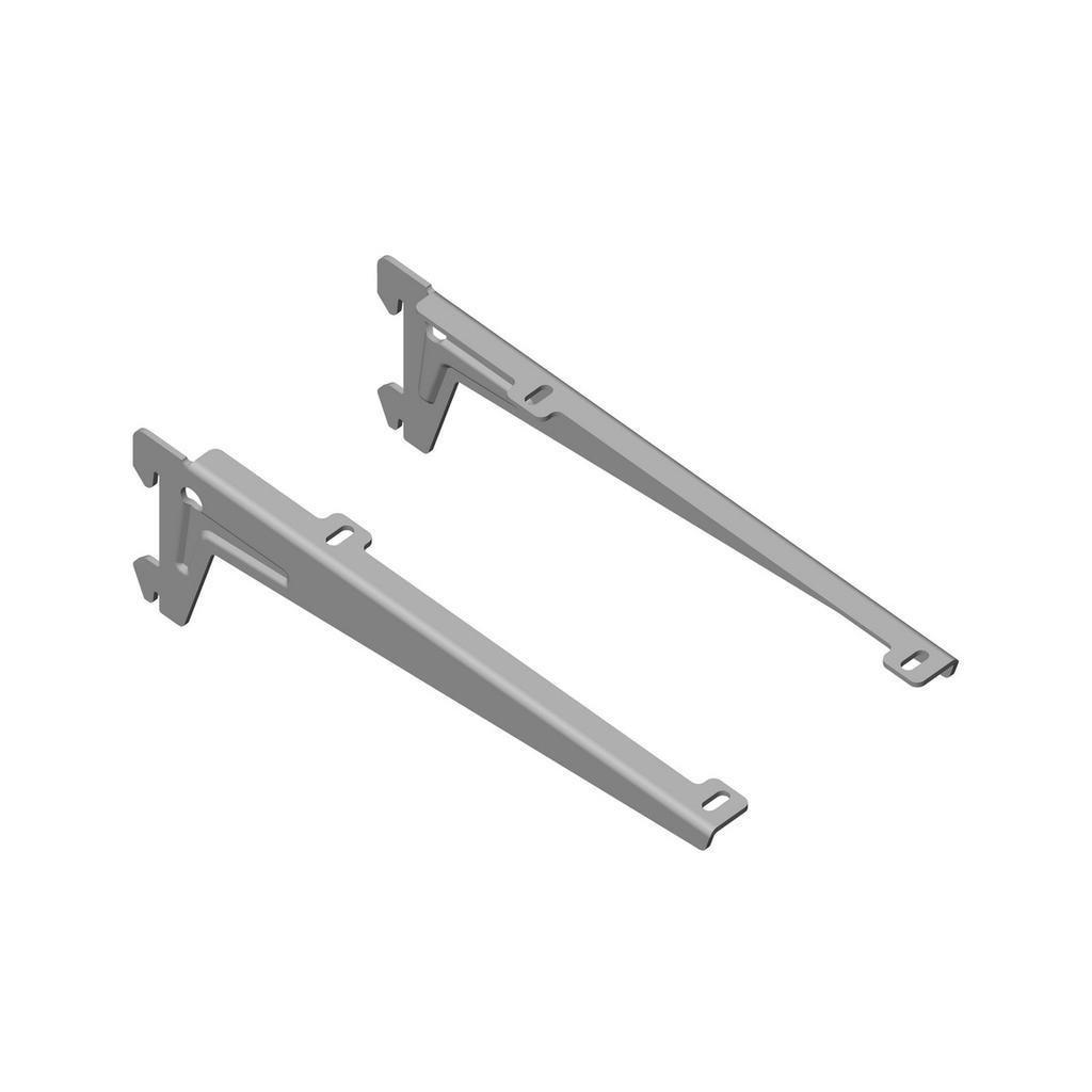 Stranový nosník 230mm, stříbrný, 1 pár