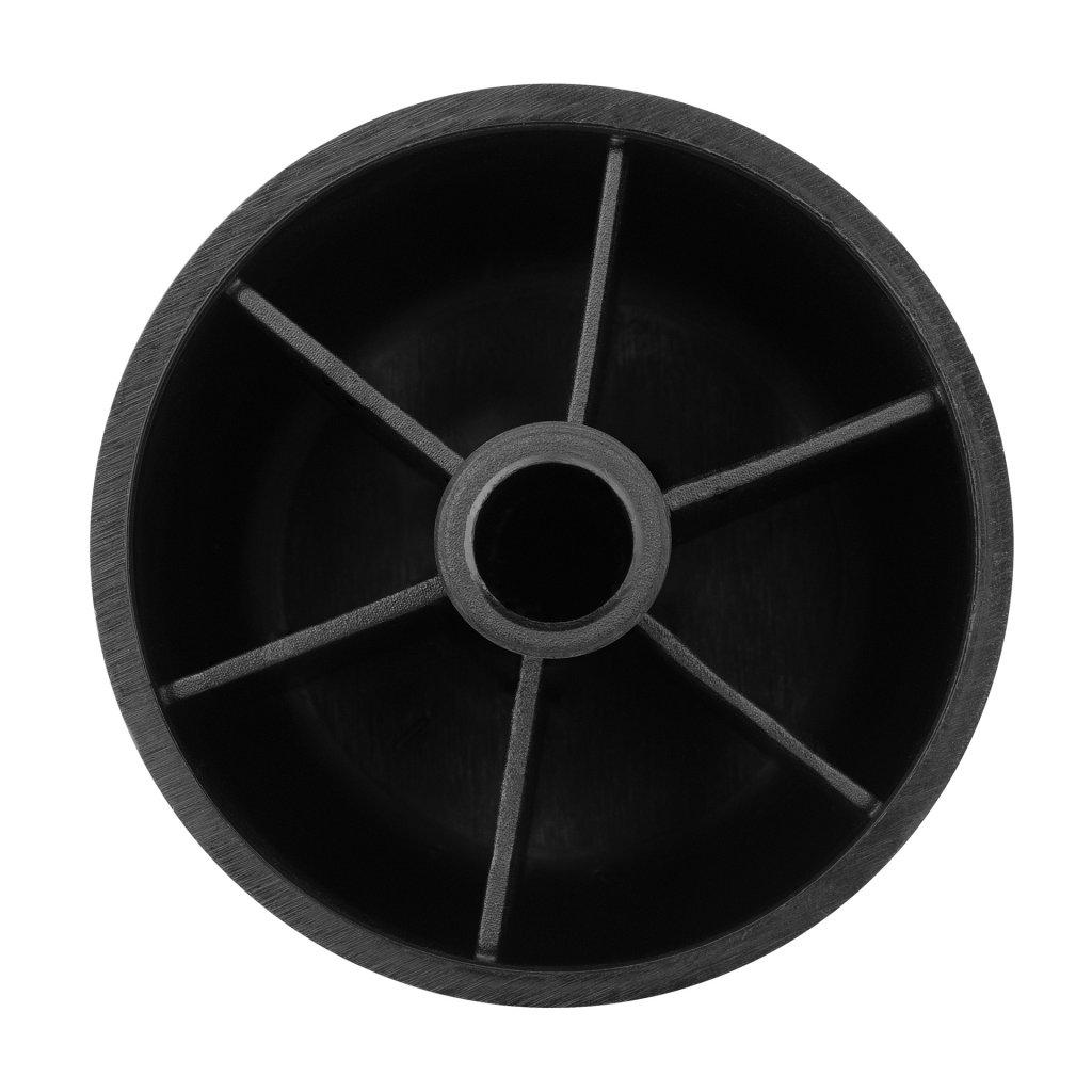Kluzák Ø 60x38mm, plast, černý