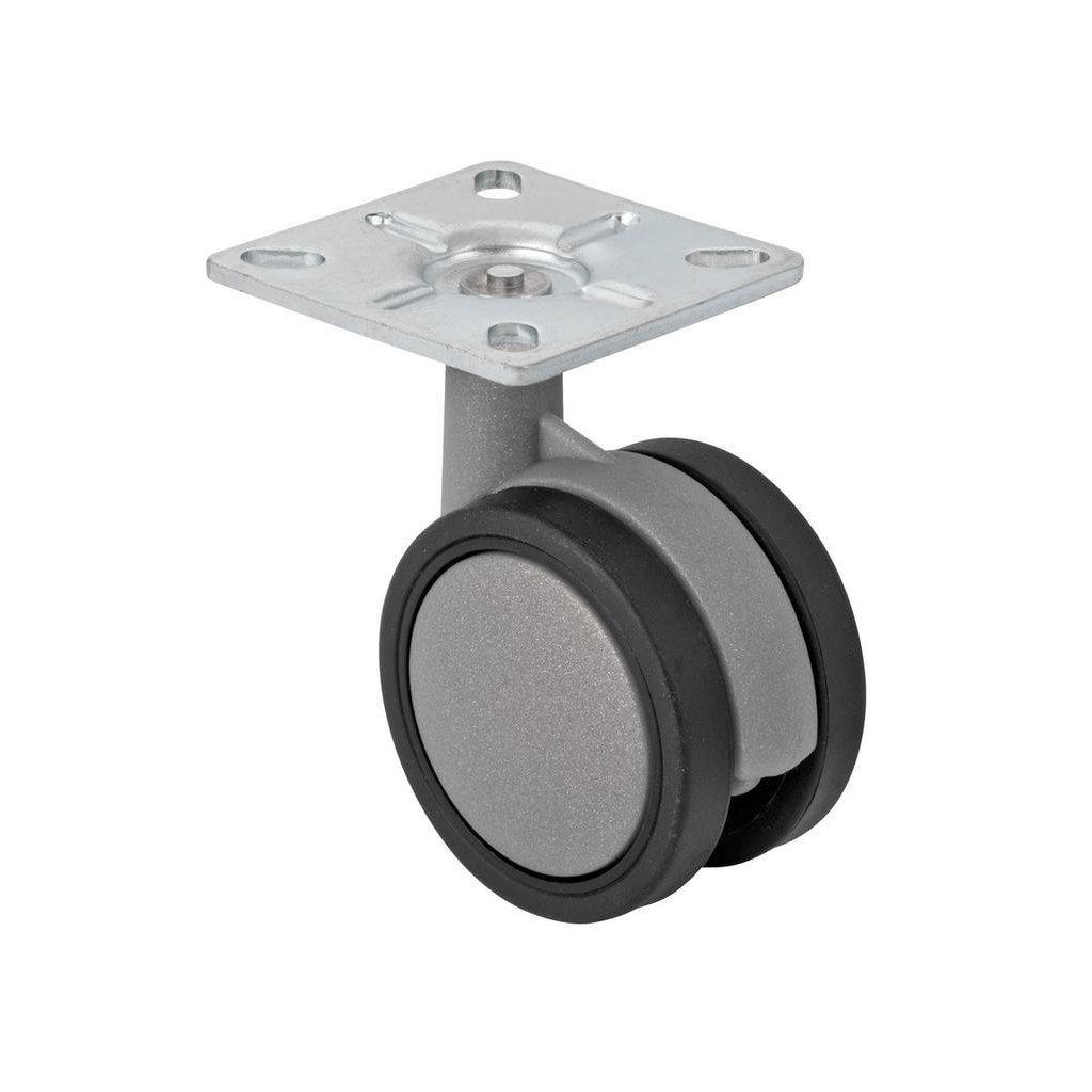 Designové nábytkové kolečko s destičkou, průměr 60 mm