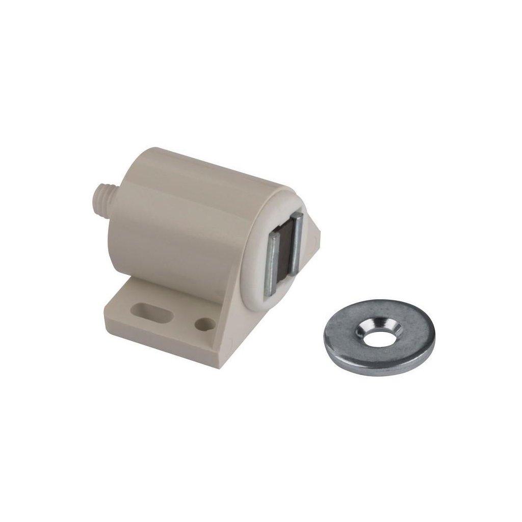 Nábytkový magnet, seřiditelný,4 kg, bílý, 2 ks