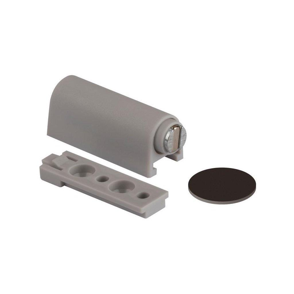Nábytkový magnet s podložkou 3,5 kg, šedý
