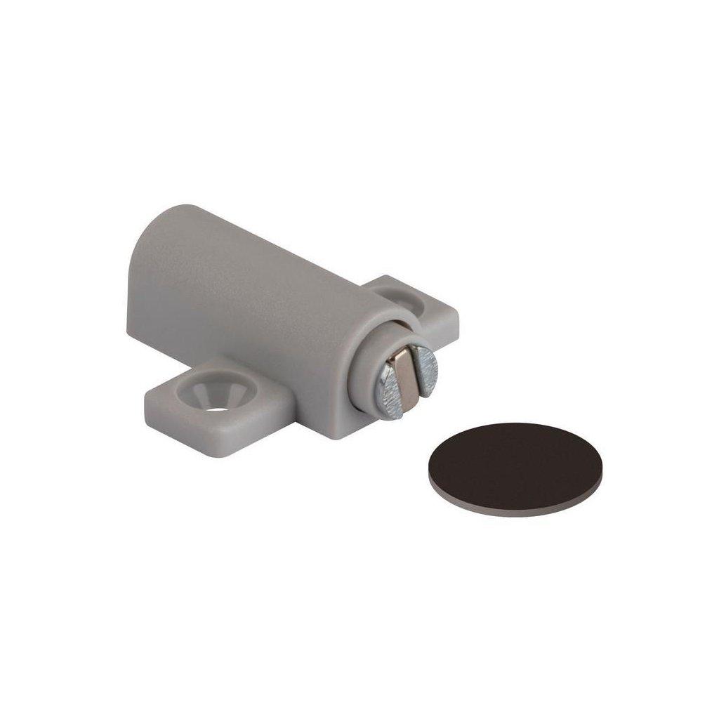 Nábytkový magnet, nosnost 3,5 kg, šedý