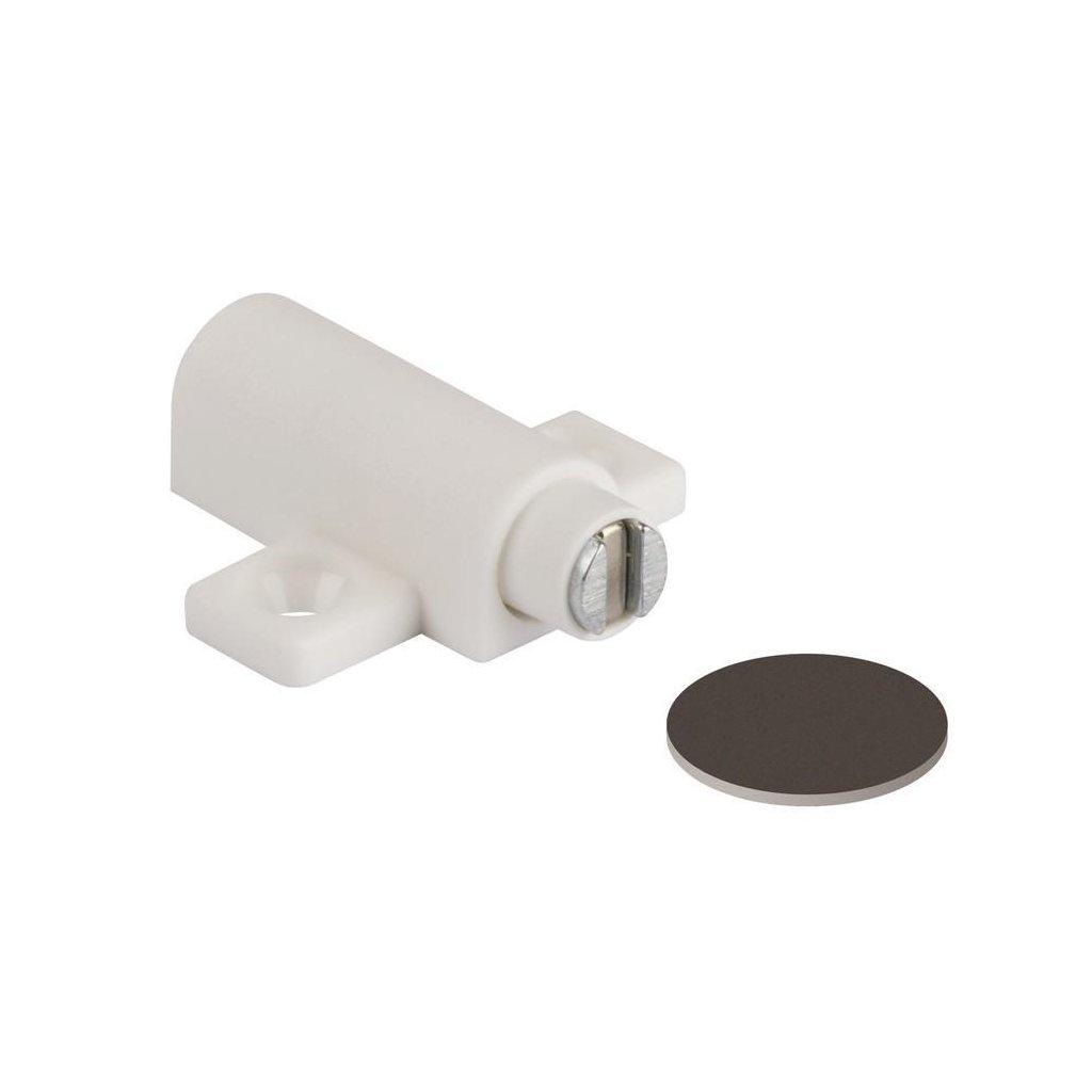 Nábytkový magnet, nosnost 3,5 kg, bílý
