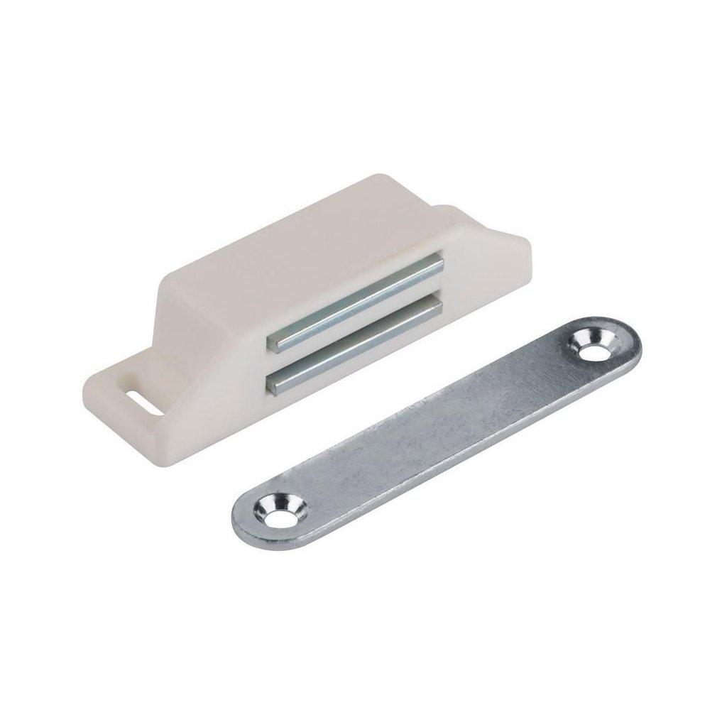 Nábytkový magnet 8 kg, bílý, 2 ks