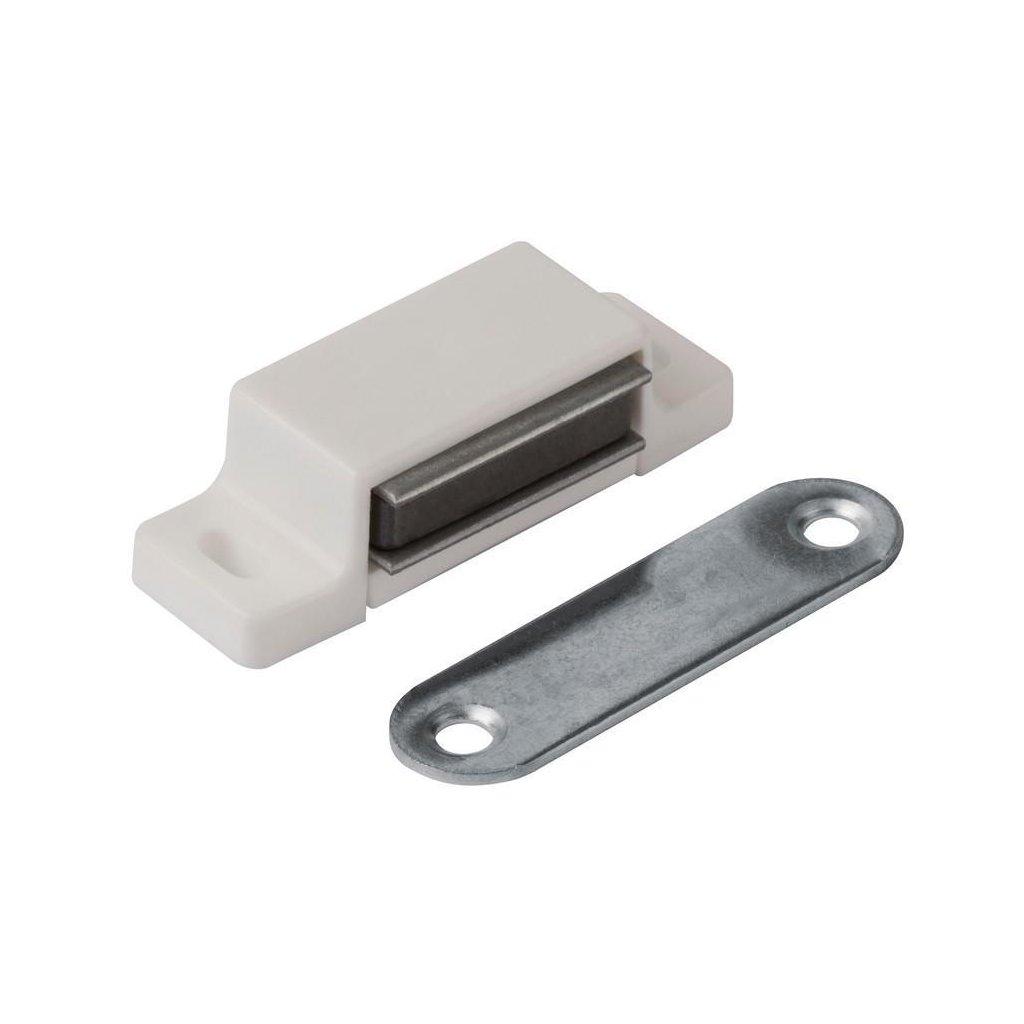 Nábytkový magnet 3-4 kg, bílý, 2 ks