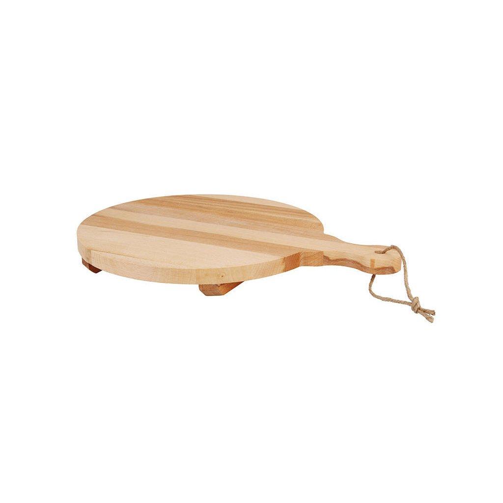 Kuchyňské prkénko z bukového dřeva je vhodné na krájení všech druhů potravin a také k servírování grilovaného masa, sýrů a zeleniny.