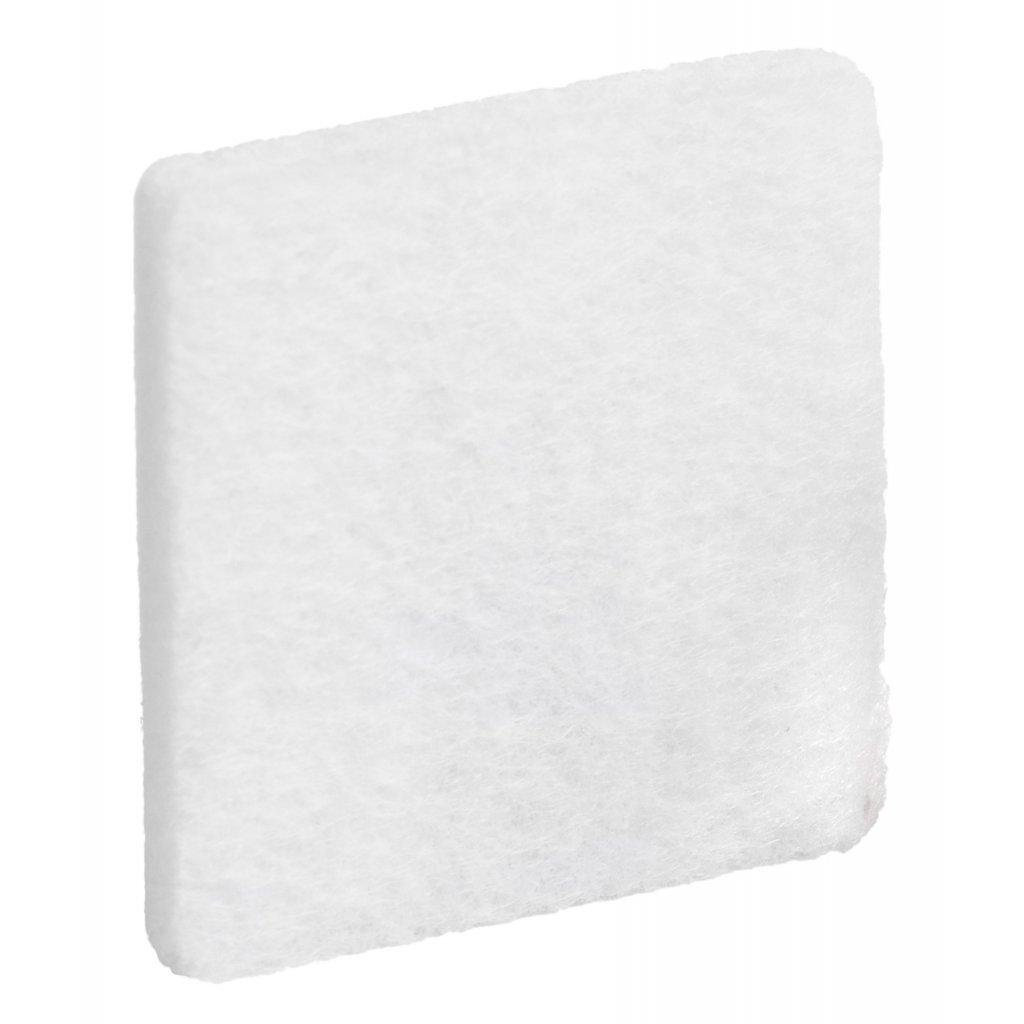 Filcové podložky 30x30mm, samolepící, bílé, 32 ks