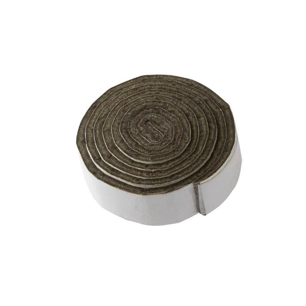 Filcový pásek 19x1000mm, samolepící, hnědý