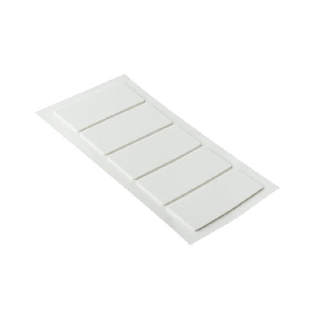 Protiskluzové podložky EVA 40x90mm, samolepící, bílé, 5 ks