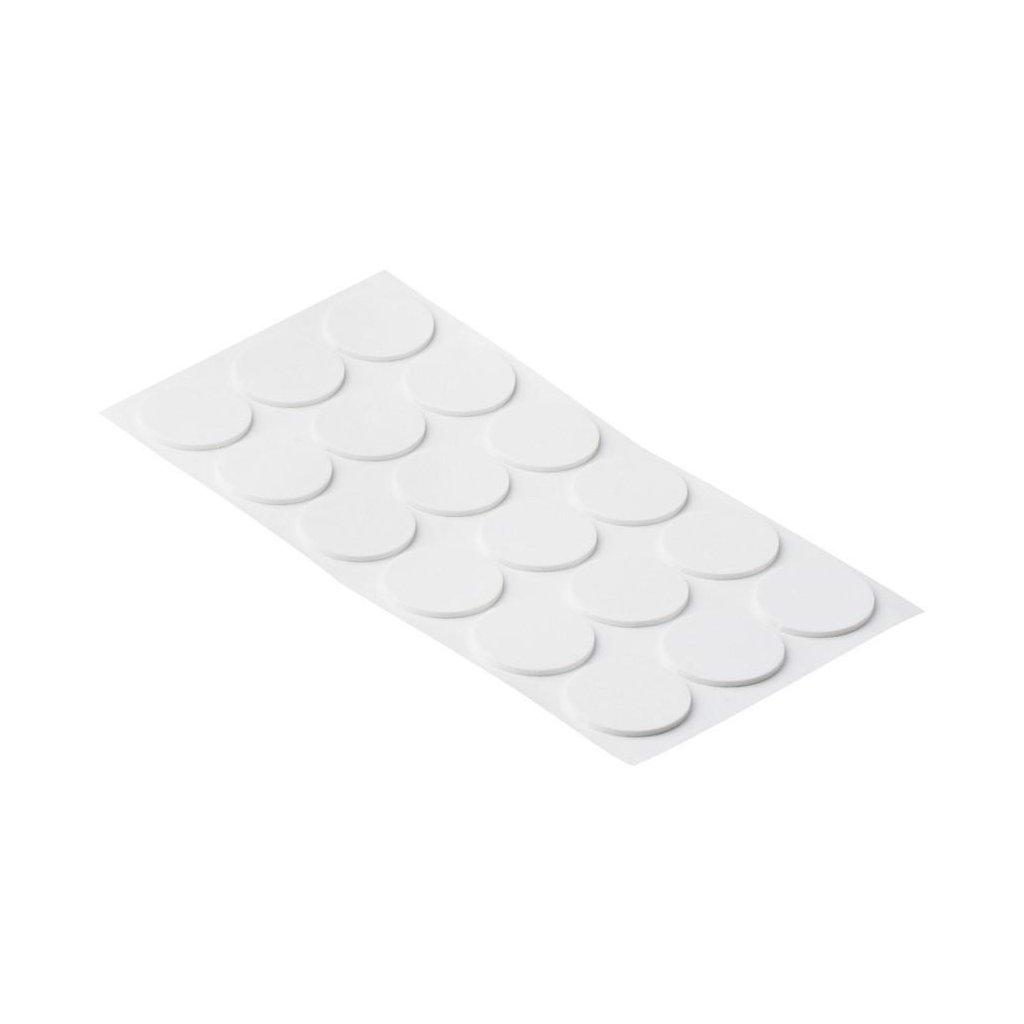 Protiskluzové podložky EVA, průměr 35mm, samolepící, bílé, 18 ks