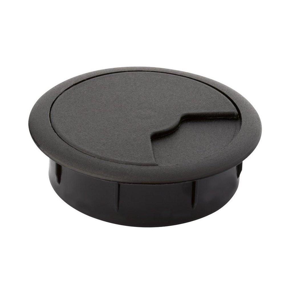 Kabelová průchodka Ø 60mm, plast, černá