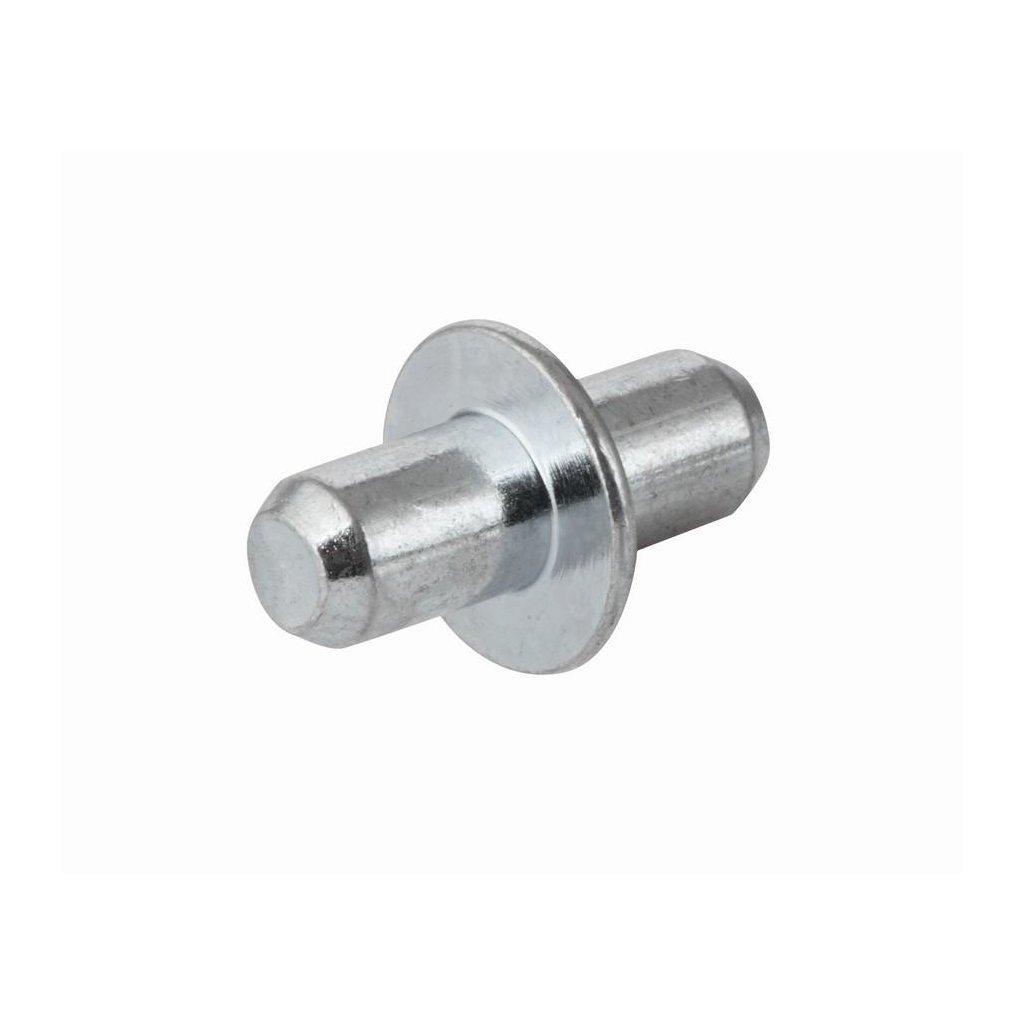 Podpěrka polic s límcem, průměr 5mm, 8 ks