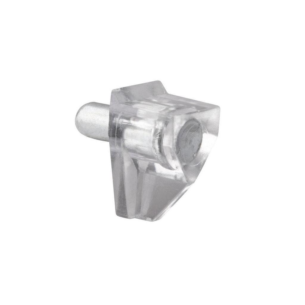 Podpěrka polic transparentní, průměr 5mm, výška 18 mm, plast, 8 ks