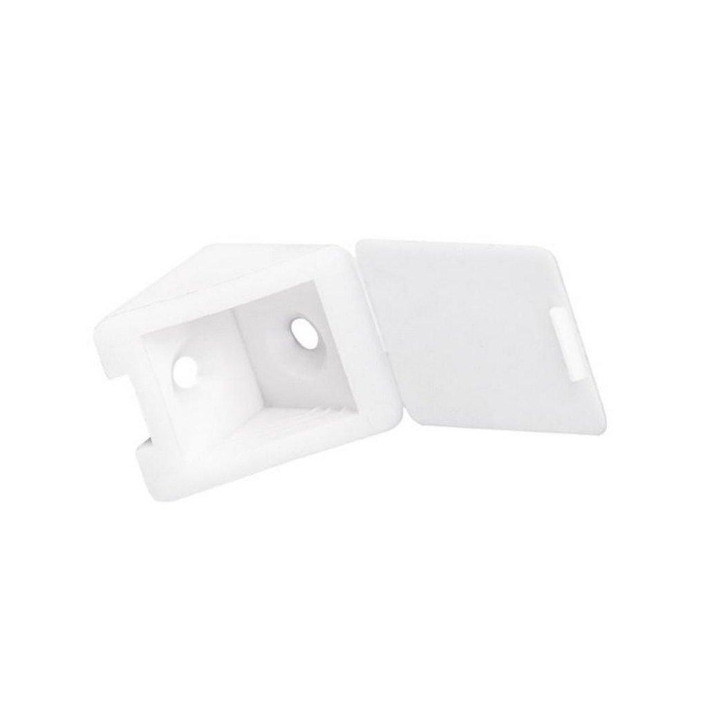 Spojovací úhelník 22x22x23mm, plast, bílý, 1 ks