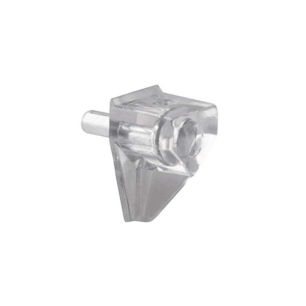 Podpěrka polic, průměr 3mm, plast, transparentní, 8 ks
