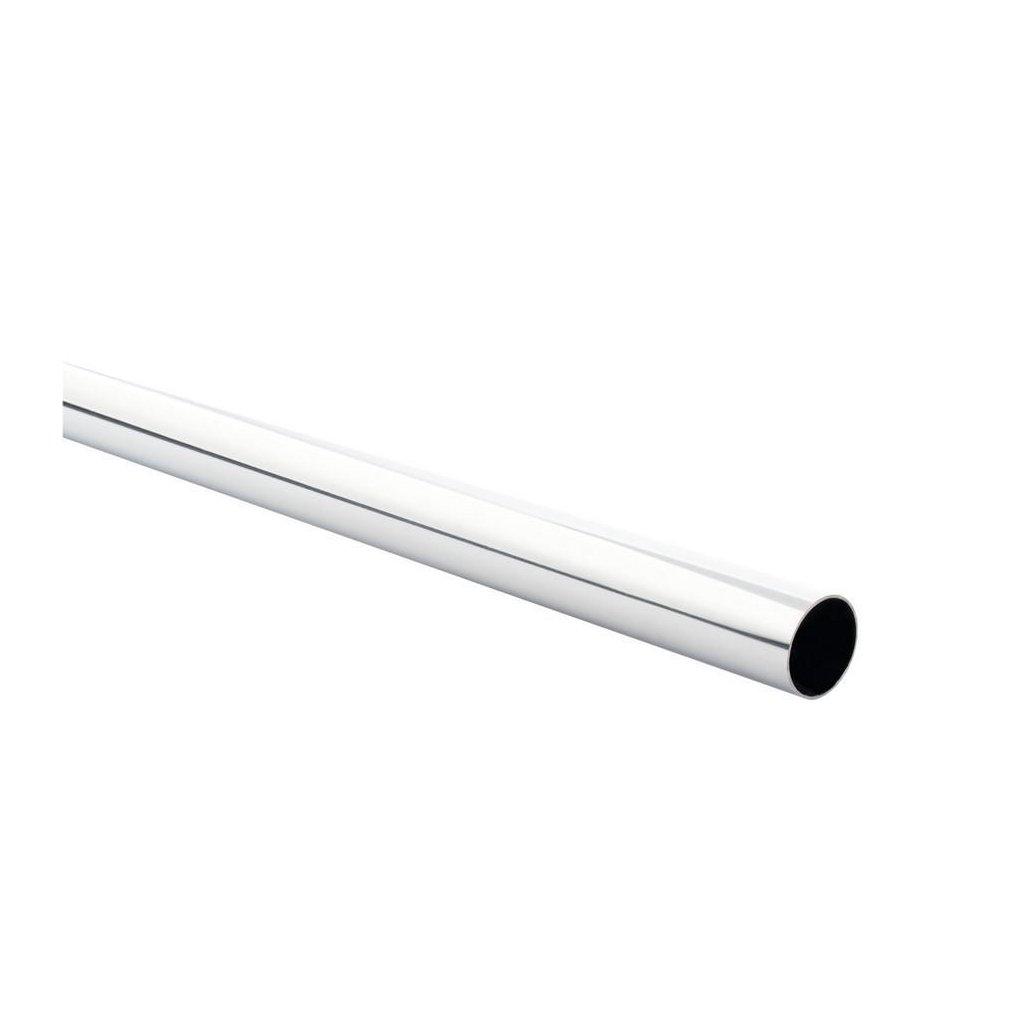 Šatní tyč Ø 25x1200mm, chrom