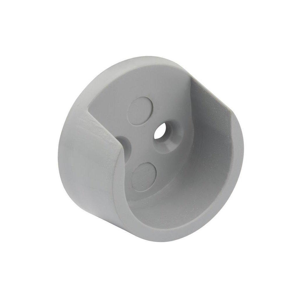 Držák šatní tyče Ø 20mm, plast, alu barva, 2 ks