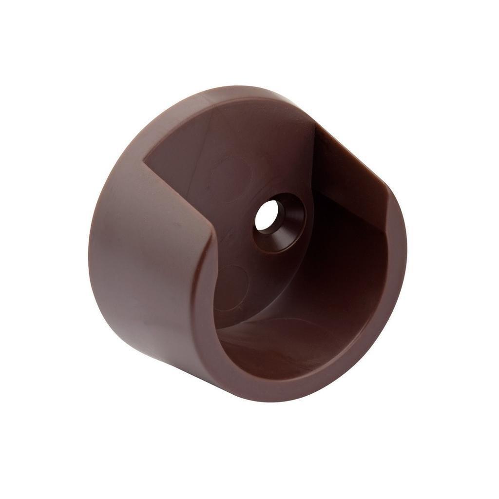 Držák šatní tyče, průměr 25mm, plast, hnědý, 2 ks