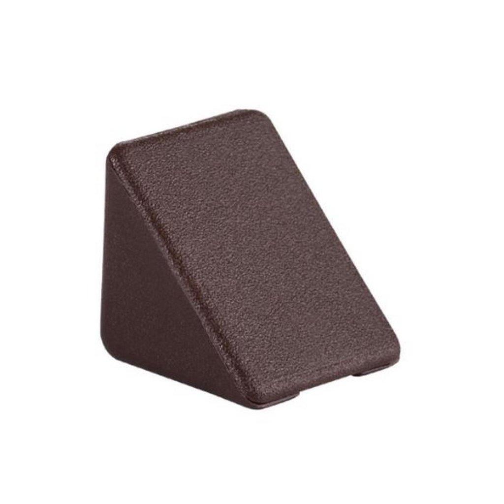 Spojovací úhelník 35x35x25mm, plast, hnědý, 1 ks