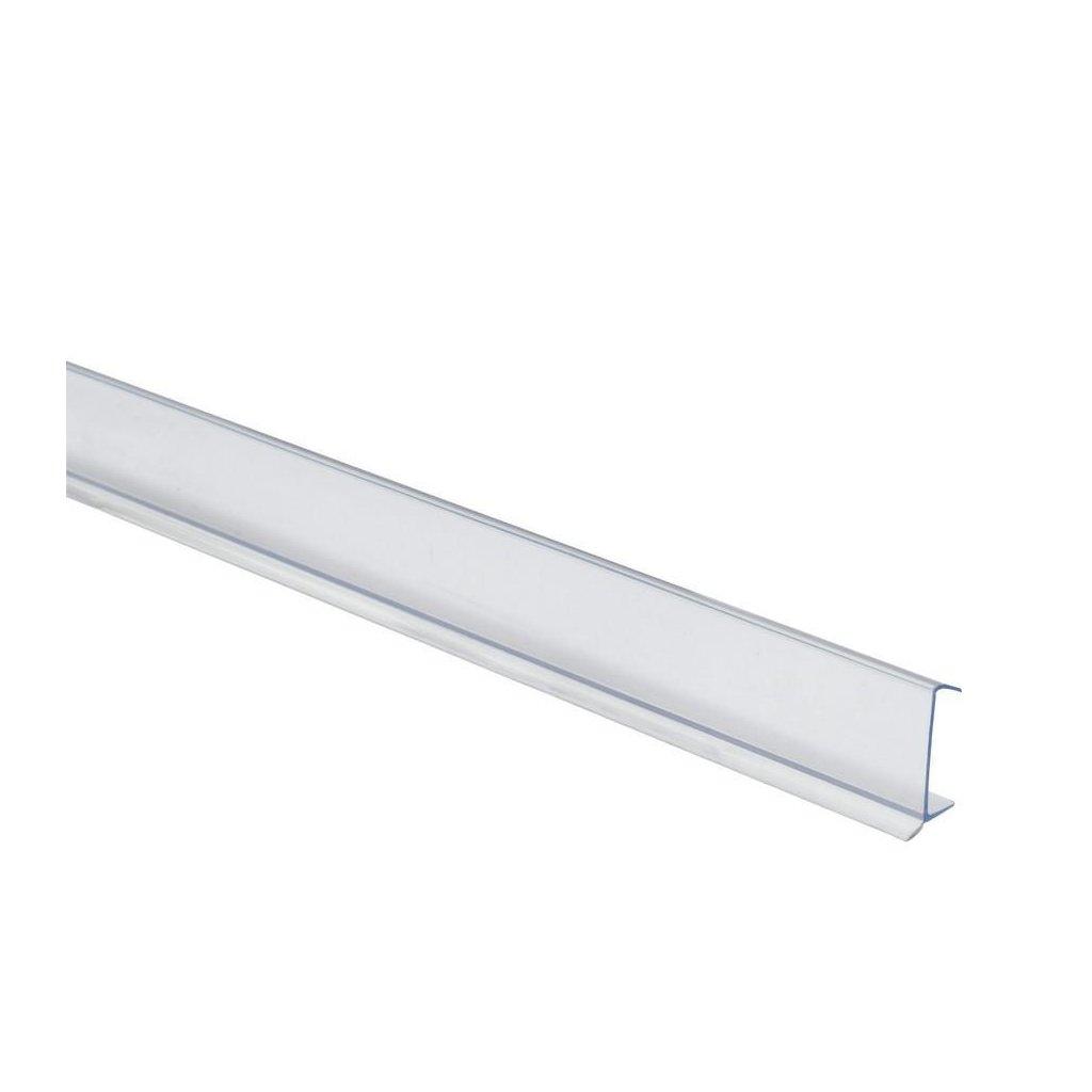Těsnící soklová lišta 2000mm, 16-19mm, plast, transparentní