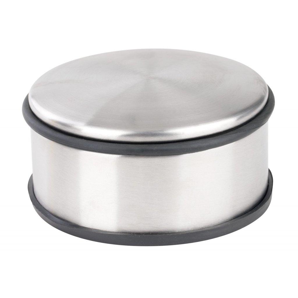 Dveřní zarážka, průměr 110x60mm, nerez design