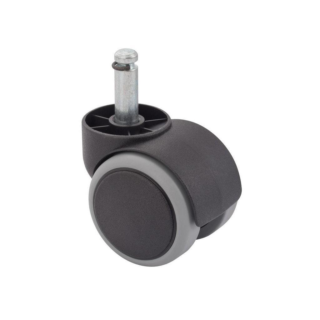 Nábytkové kolečko pro tvrdé podlahy, průměr 50 mm, čep, průměr 10mm