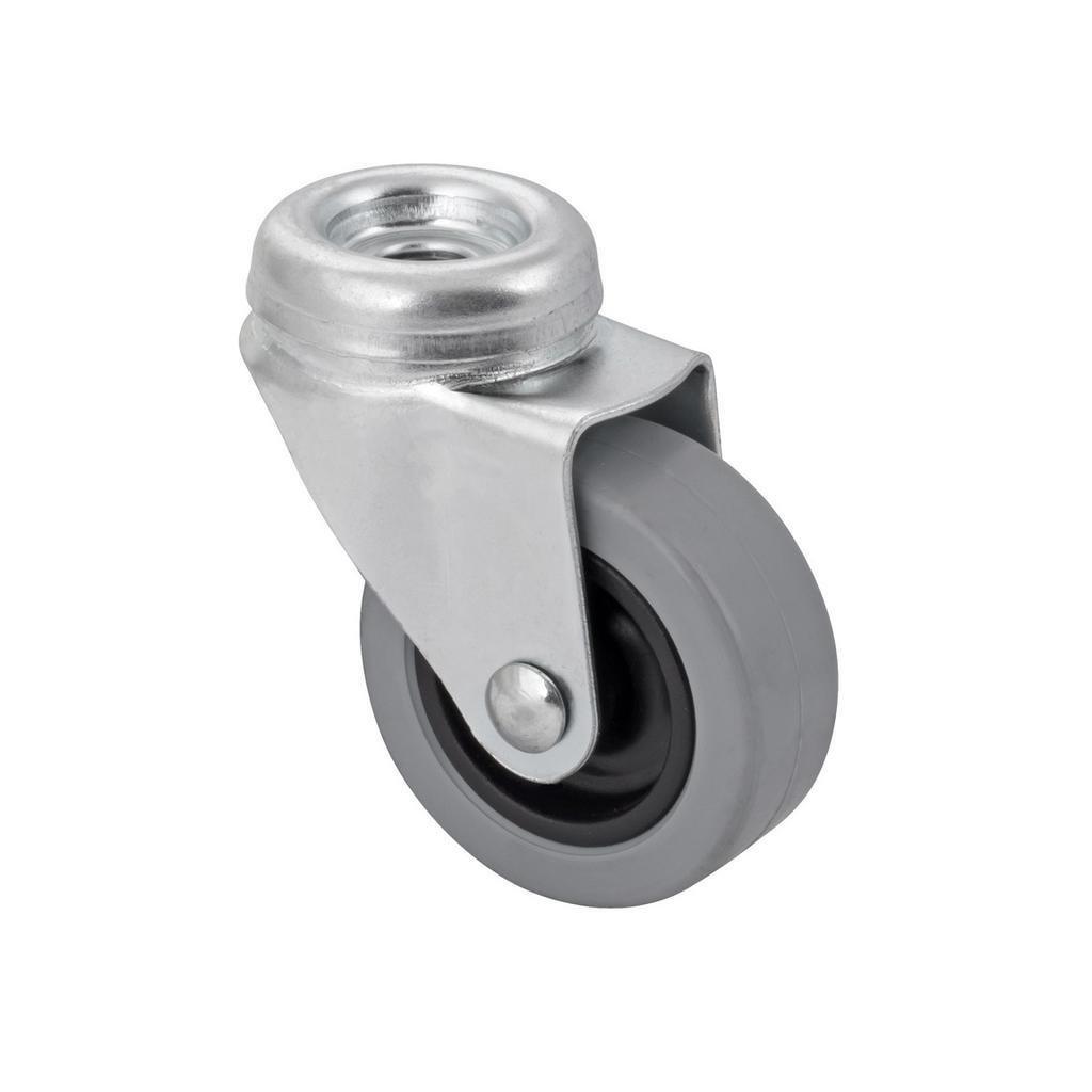 Přístrojové kolečko otočné pro tvrdé podlahy se středovým šroubem, průměr 50 mm