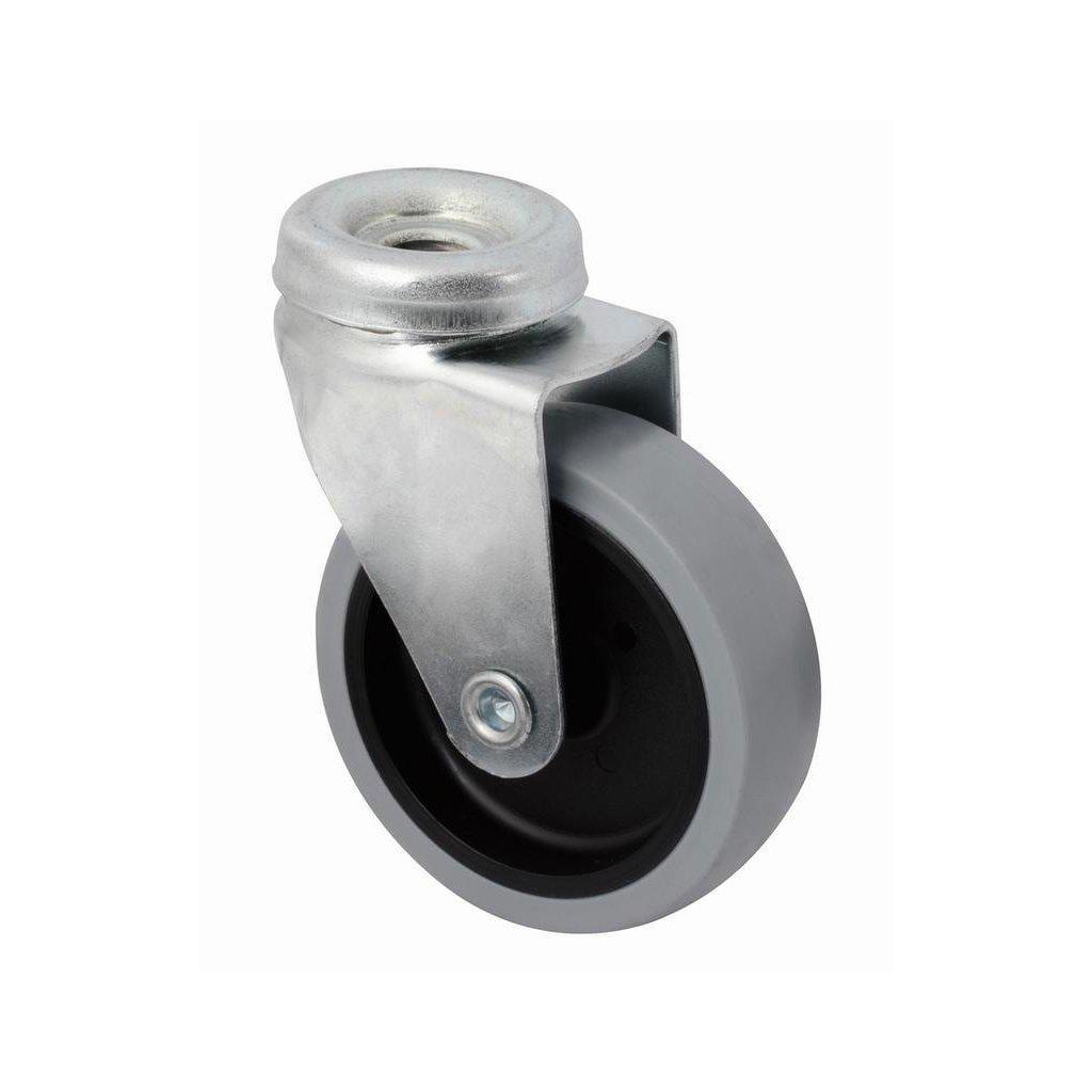 Přístrojové kolečko se středovým šroubem pro tvrdé podlahy, otočné, průměr 75 mm