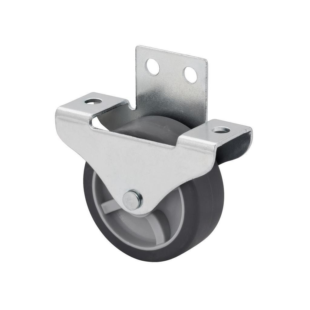 Skříňové kolečko pro tvrdé podlahy, průměr 50 mm