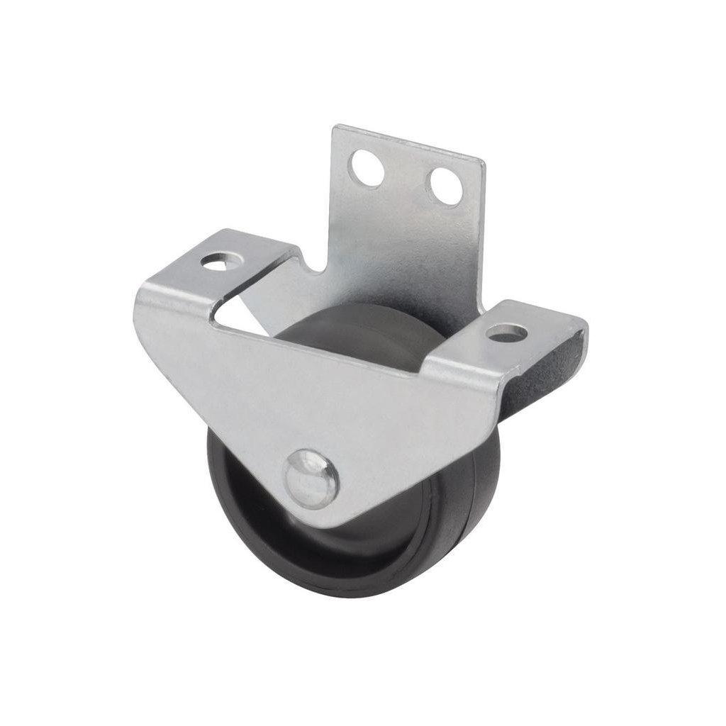 Skříňové kolečko pro měkké podlahy 63x48x69mm, průměr 30 mm