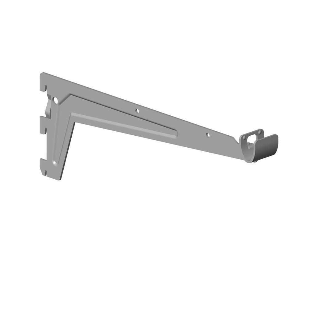Nosník pro šatní tyč 330mm, stříbrný