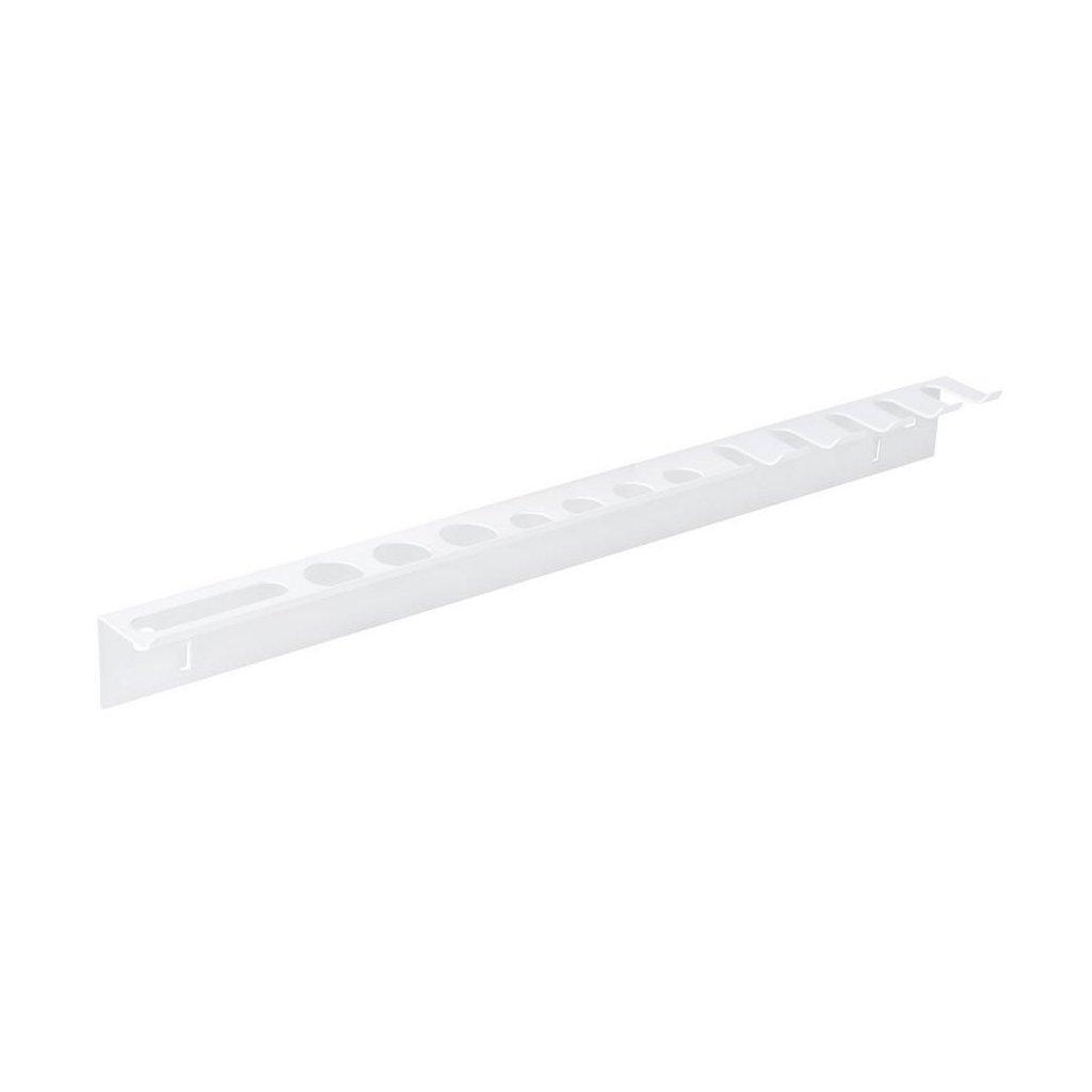 Držák na nářadí 360mm, jednoduchý, bílý