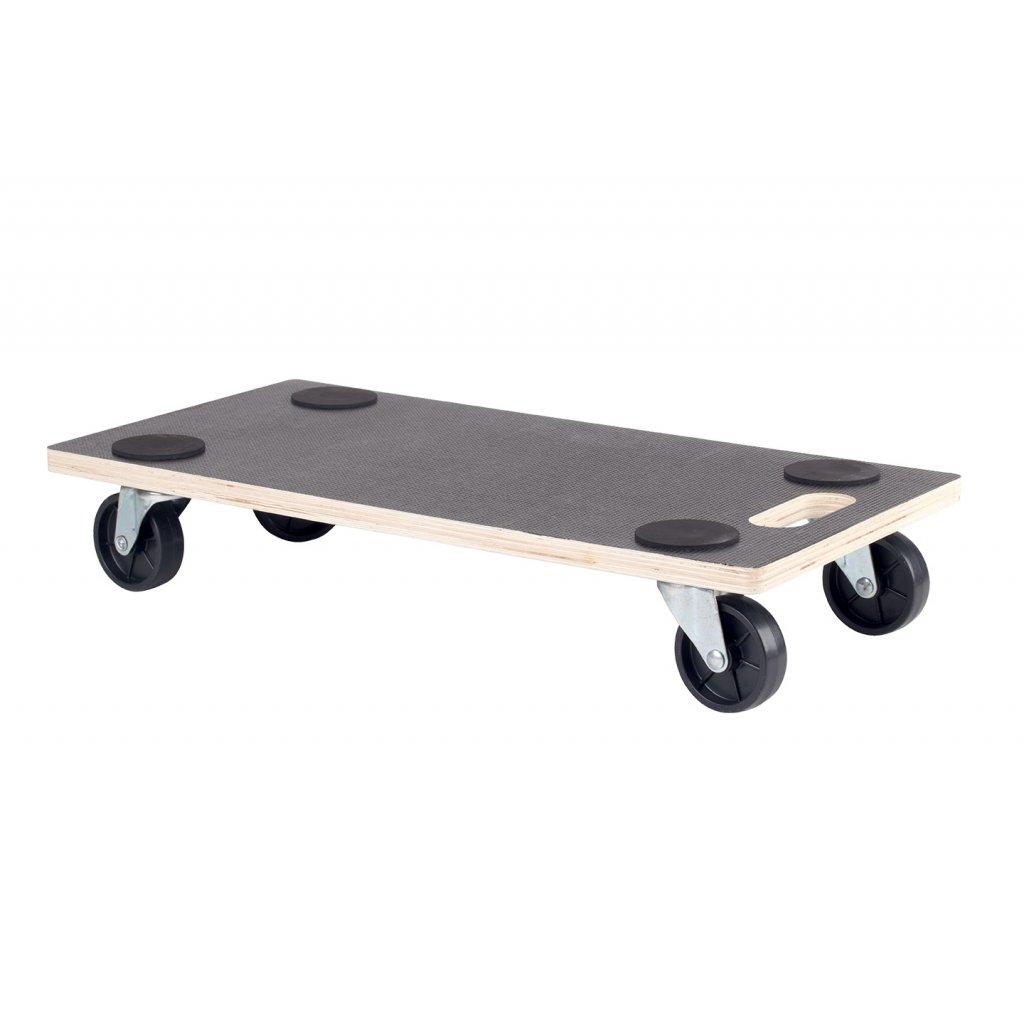 Transportní deska pro tvrdé podlahy, 580x290mm, černá protiskluzová podložka, nosnost 200 kg