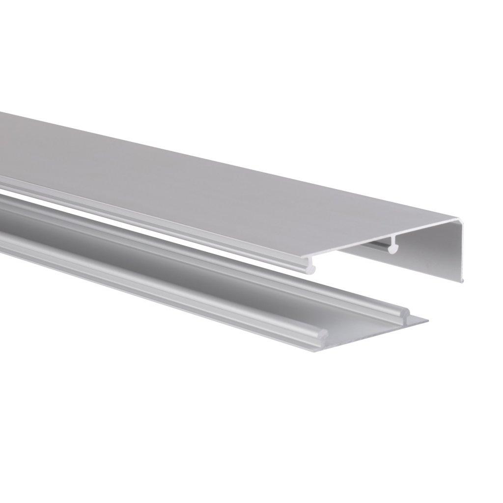 Vrchní+spodní vodicí profil WS 70, 1800mm, Aluminium