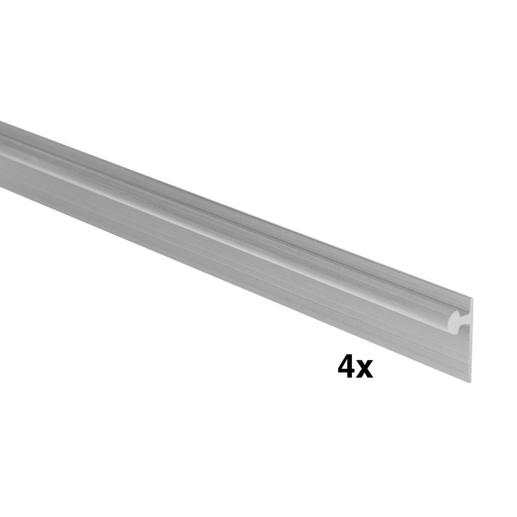 Vrchní/spodní vodící profil WS 65, 2000mm, Aluminium, 4 ks