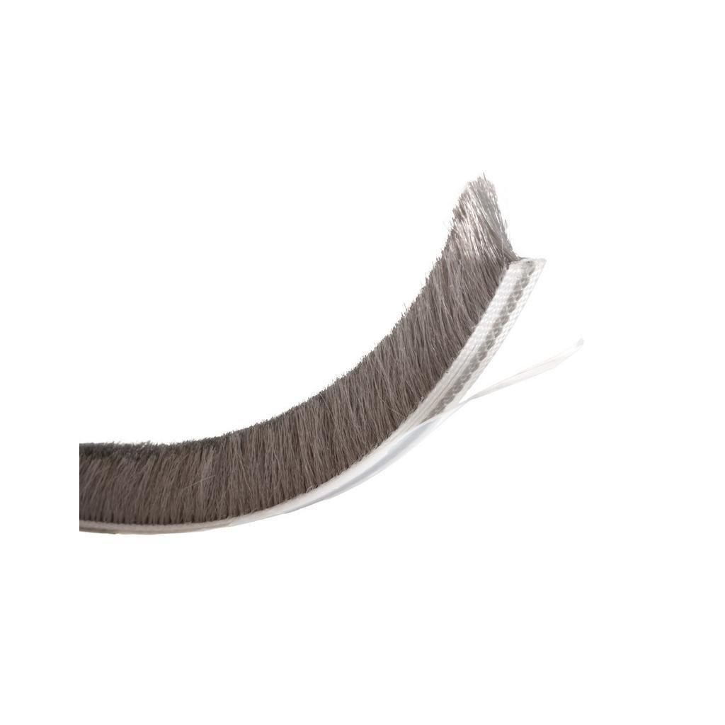 Těsnící kartáč 12mm, L 5,5m, šedý