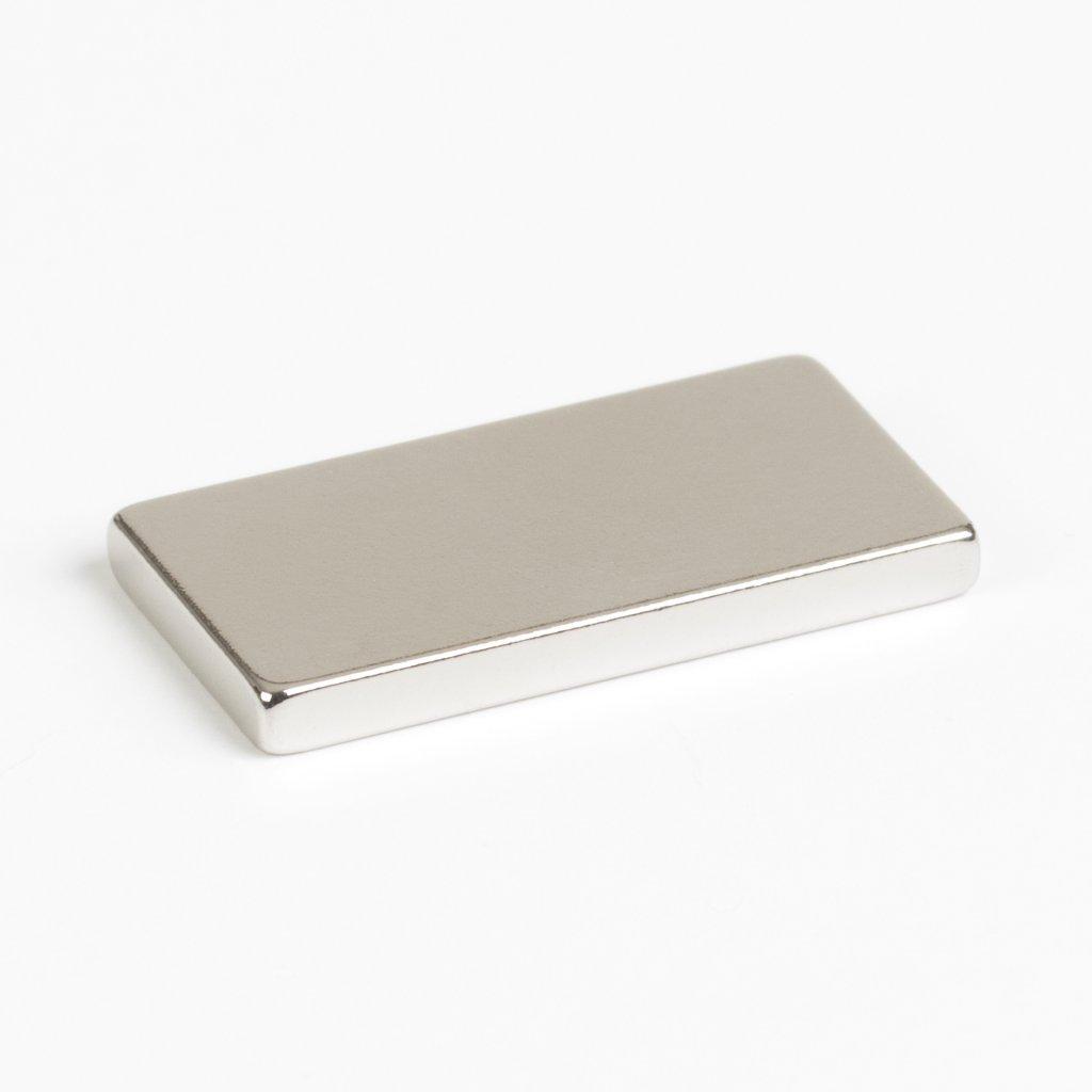 Magnet neodym kvádr 20x10x2mm, přilnavost 2kg, 6 ks