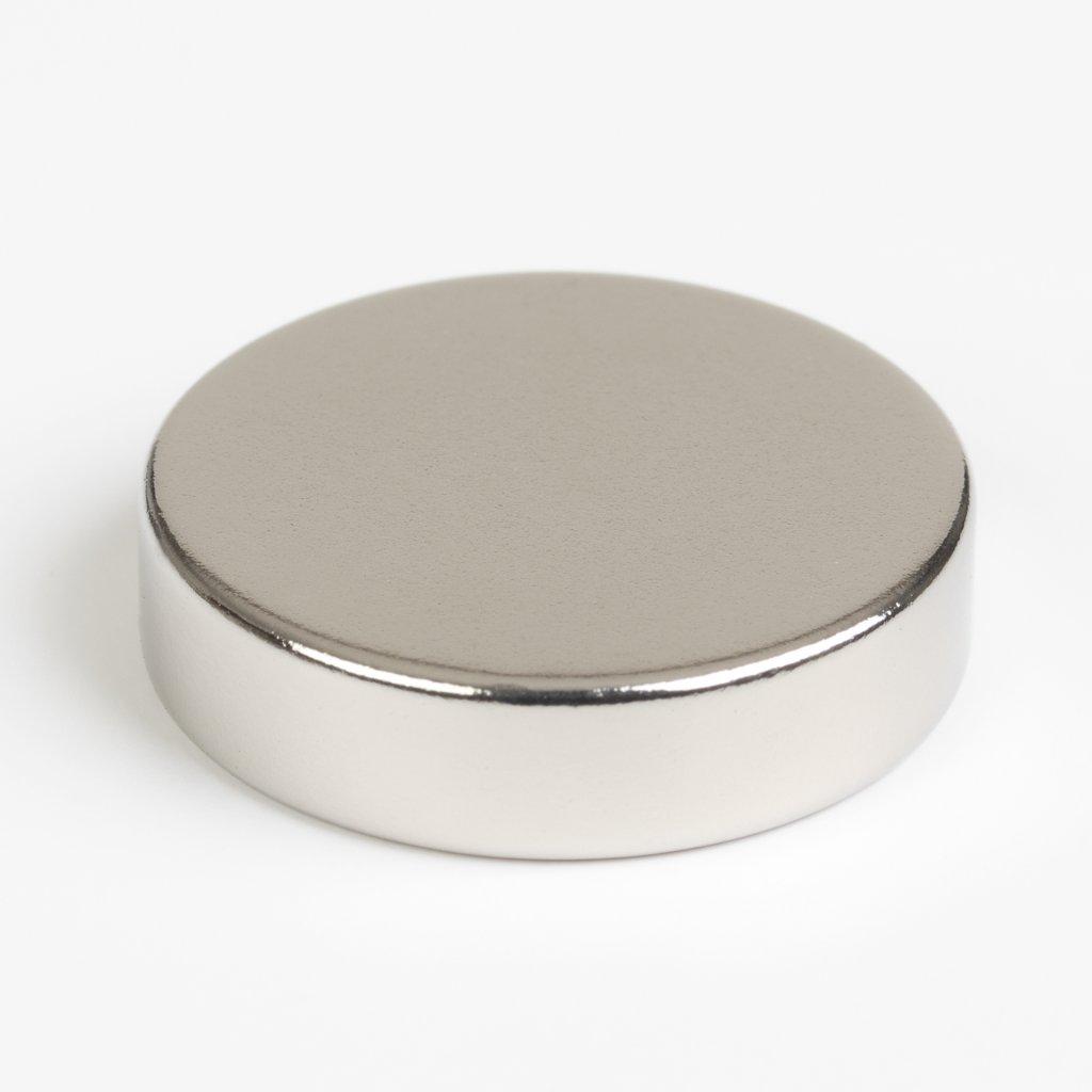 Magnet neodym kulatý průměr 20x5mm max. nosnost 11kg, 2 ks